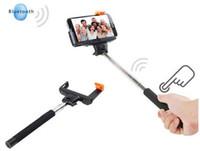 pau selfie großhandel-2016 heißer selfie wireless stick stativ bluetooth pau de erweiterbar tripode aluminium einbeinstativ zu selbst für iphone android mobile neue