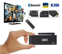 Wholesale Ddr 1g - 8 Photos Smart Android Set Top Box Android 4.4 1G DDR 8G Flash Support Bluetooth WiFi HD Media Player Android TV Stick M85