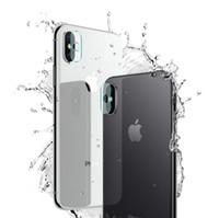 adesivo adesivo de proteção venda por atacado-Lente da câmera de vidro temperado film para iphone xr xs max x 7 8 plus filme de volta etiqueta protetora traseira tampa do telefone