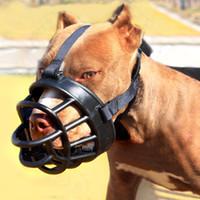 mundhunde großhandel-Haustier-Produkte Maulkorb weiche Silikon-Mund-Maske Anti Bark Bite Hunde-Trainings-Maulkorb für Pitbull Sheperd Golden Retriever