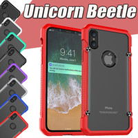 Unicorn Beetle Hybrid TPU Bumper PC Clear Matte Housse de protection antichoc pour iPhone X 8 7 Plus 6 6S SE 5S Samsung Galaxy S8 S7 bord