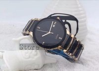 Wholesale Watch Couple Rose Gold - New paragraphs rose gold male female high quality stainless steel quartz watch waterproof couples Round watch