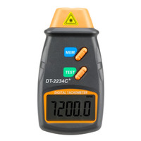 Wholesale Tachometer Dt2234c - Wholesale-Digital Laser Tachometer RPM Meter DT2234C Non-Contact Motor Speed Gauge Revolution Spin