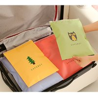 Wholesale Plastic Travel Bags Clothing - 2017 plastic food 6 color travel pouch translucent clothing sealing bag storage shoe dust-proof tote dust underwear sorting hot sale