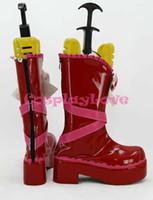 Wholesale Maids Shoes - Wholesale-Newest Custom Made Japanese Anime Lovelive! Valentine's Day Lolita Maid Nishikino Maki Cosplay Shoes Boots For Halloween