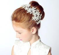 Wholesale Best Selling Headband - Best Selling Wedding Pearl Flower Headbands Beautiful flowers girl hair flower bride wedding headdress 2017 Wedding Style
