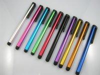 kalem klipsi toptan satış-Toptan-Kapasitif ekran stylus dokunmatik kalem ile klip iPhone 6 5 S iPad için Kapasitif Stylus Dokunmatik Kalem Samsung Galaxy LG Tablet