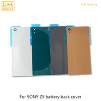 Wholesale Battery For Xperia Mini - 5pcs lot For Sony Xperia Z5 E6603 E6653,Z5 Compact Mini E5803 E5823 Battery Back Cover Rear Door Housing Case Repair Cellphone Parts