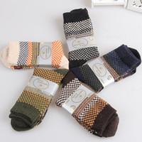 Wholesale Fashion Wholesalers Wool Dresses - Wholesale-New Fashion Men's Warm Winter Thick wool mixture ANGORA 1 Pair Cashmere Casual Dress Comfortable Socks Hot