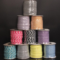 Wholesale Parachuting Cord - 40 Meters roll 3mm Paracord Beading Macrame Rattail Nylon Cord Parachute Lanyard Rope Craft Jewelry DIY