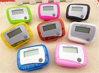 Wholesale Lcd Run Step Pedometer - New Pocket LCD Pedometer Mini Single Function Pedometer Step Counter LCD Run Step Pedometer Digital Walking Counter with Package