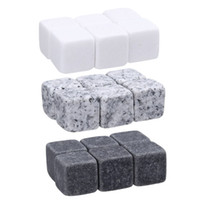 Wholesale Ice Clubs - 6pc Natural Whiskey Stones Sipping Ice Cube Whisky Stone Rock Cooler Christmas Bar Accessories 2017 newest WHISKY ICE CLUB DHL Fedex free