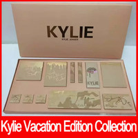 Wholesale more free - Hot Kylie Vacation Edition Birthday Collection I WANT IT ALL Makeup set take me on vacation,Send me more Nudes free shipping