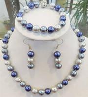 Wholesale 12mm Multicolor Shell Pearl Necklace - Pretty tribe 8MM 10MM 12MM Multicolor South Sea Shell Pearl Necklace Bracelets Earrings