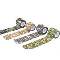 Wholesale Hunting Tape - 5cmx4.5m Camo Outdoor Hunting Shooting Tool Camouflage Stealth Tape Durable Waterproof Wrap New Arrival 2504043