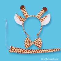 Wholesale Giraffe Gloves - Party Supplies Giraffe Headband 3-5 pieces set Include Headband Tie Tail gloves Your dress up is different.