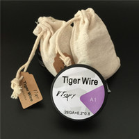 Wholesale tiger electronics for sale - Group buy Tiger Wires Fast Heating Wire For E Cigarettes Feet GA Coils Tiger mm Wire Electronic Cigarette DHL