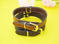Wholesale Wholesale Pet Collars China - Hot Sale Leather Dog Collar High Quality China Dog Collar Factory Customized Pet Dog Collar Leather Black Brown