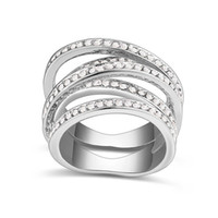 Wholesale Kpop Rings - 2016 Kpop Spiral Rings Made With Swarovski Elements Crystals from Swarovski Rhodium Plated Fashion Rings Women Bijoux