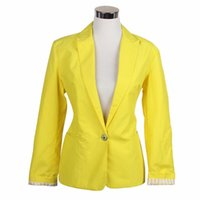Wholesale Candy Colored Blazers - Global explosion models one buckle female jacket European style candy-colored suit jacket Slim Jacket Women