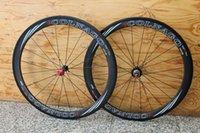 ingrosso ruote da corsa in fibra di carbonio-Ruote in carbonio COLNAGO EPS per copertoncino 50mm Ruote per bicicletta 700c Ruota bici da corsa in fibra di carbonio lucido / opaco
