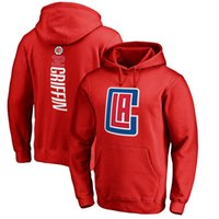 Wholesale Pink Clippers - 17-18 season basketball CLIPPERS Hoodies 32 Griffin any CUSTOM NAME AND Number LA SWEATTHIRTS