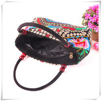 Wholesale Traditional Chinese Red Beads - 2016Hot Yunnan folk embroidery handbag shoulder bag women bag Chinese embroidery wholesale features traditional embroidered bags
