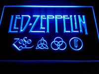 Wholesale Rock Roll Signed - Led Zeppelin Rock n Roll Punk Neon Light Signs -LF002b