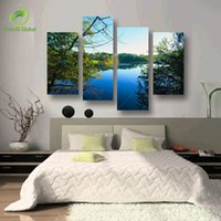 pain nature - 4 Panel Art Scenery Paintings Nature Decoration Wall Scenery Paining Canvas Picture Cuadros For Living Room Unframed Wedding