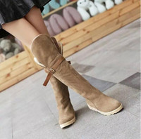 Wholesale Korean Knee High Boots - 2016 Korean version of the explosion and fall winter women's snow boots to wear more boots boots boots boots