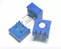 Wholesale Precision Resistance - Wholesale- Free shipping 100pcs 3386P-1-104 100K P104 precision adjustable resistance horizontal potentiometer