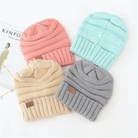 New 17 Color Trendy CC Knitted Chapéus Unisex Winter Warm Crochet Chunky Soft Beanie Homens Mulheres Outdoor Stretch Cable Skull Caps Melhor presente A11