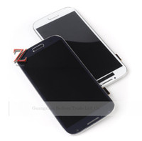 ingrosso telaio dello schermo i545-All'ingrosso-originale i9505 lcd per Samsung Galaxy S4 lcd I9500 i337 I545 LCD touch screen digitizer con telaio blu scuro spedizione gratuita 1 pz