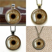 Wholesale evil eye green - 10pcs Coffee Green Eye Third Eye Jewelry Evil Eye Pendant Necklace keyring bookmark cufflink earring bracelet