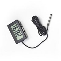 Wholesale New sales Professinal Mini LCD FY Digital Thermometer Temperature Sensor Fridge Freezer Thermometer C Controller GT black