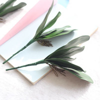 Wholesale orchid sales - Artificial Green Butterfly Orchid Leaf Home Wedding Party Decoration High Quality Material Green Plant Hot Sale 2 5fh J