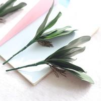 ingrosso fiori artificiali di alta qualità in plastica-Falena orchidea fiore artificiale multi funzione arredamento per la casa decorazione di alta qualità in plastica pianta verde vendita calda 2 5fh KK