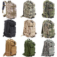 Wholesale Quality Tactical Backpack - 30pcs High Quality 30L Hiking Camping Bag Military Tactical Trekking Rucksack Backpack Camouflage Molle Rucksacks Attack Backpacks