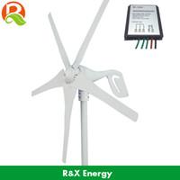 controlador de generador de turbina al por mayor-Al por mayor-400W generador de turbina eólica 600w máx, certificado CE generador de energía eólica y controlador, 5 aspas pequeño molino de viento