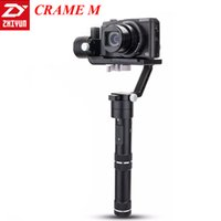 Wholesale Dslr Camera Cranes - ZHIYUN CRANE M Handheld Gimbal Camera Stabilizer Smart Phone Selfie Stick Bluetooth DSLR  Mirrorless Gopro Support Weight 650g