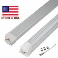 Wholesale Cooler Shipping Boxes Wholesale - Free Shipping 25pcs box V-Shape T8 Integration LED Tube high brightness 2ft 3t 4ft 5ft 6ft 8ft stock on sale customized color 2000-12000k