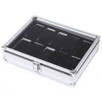Wholesale Cajas Para Relojes - Wholesale-2016 Hot Sale 10 Grids Stainless Steel Watch Case With Transparent Glass Cover Box Organizer Sliver cajas para relojes