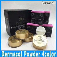 Wholesale Factory Outlet Sales - In stock! Dermacol Loose powder factory outlet oil control powder makeup lasting Concealer beauty spot sale free distribution