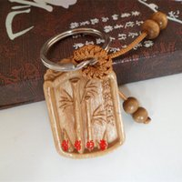 Wholesale Bamboo Pendant Lights - Keychain light mahogany carved jiejiegao bamboo pendant ornaments Wang family transportation be promoted step by step