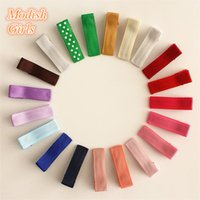 Wholesale Good Quality Hair Accessories - small 3.5cm Cheap Headwear Hair Clips Ribbon Covered Clips Bestseller 20 Colors Hairpins withno Accessory Good Quality 200pcs lot
