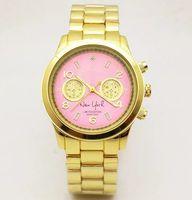женщина часы запястье роскошь оптовых-7 цветов M бренд наручные часы мужчины женщины роскошные золотые нержавеющей стали наручные часы бизнес мода часы кварцевые часы