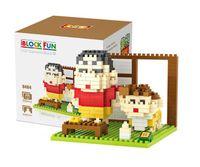 Wholesale Shin Chan Toys - Cartoon Building Block Crayon Shin-chan Mini Blocks Kid Diamond Bricks Building Educational Set Children Blocks Kids Indoor Toys