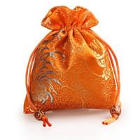 petit sac de parfum achat en gros de-Épaissir chrysanthème petite pochette à bijoux cordon de serrage brocart de soie cadeau emballage sac parfum outils de maquillage pochette de rangement bonbon thé faveur sac