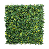 Wholesale 12 Pieces cm x cm Artificial Hedges Mats Artificial Plants Plastic Boxwood Hedges Mats Garden Ornaments