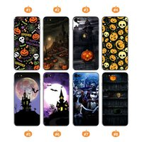 Wholesale Halloween Iphone Cases - Halloween Soft TPU Cute Phone Case For iPhone X 8 7 6 6s plus 5 5S SE Anti Shock Painting Back Cover Cases Shell for Samsung Huawei OPP Bag